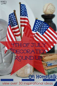 A Round Up of inspiriting 4th of July decorating tips and treasures. The collection has grown...over 50! Curated by www.huntandhost.com