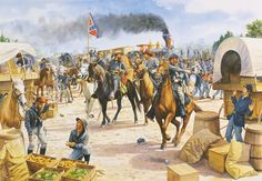 """Confederate cavalry loot Tunstall's Station during Stuart's """"Ride around McClellan"""""""