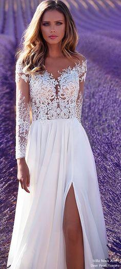Milla Nova Wedding Dresses 2018 Violet4  #wedding #weddingdress #weddingideas #deerpearlflowers #dpf ❤️ http://www.deerpearlflowers.com/long-sleeves-wedding-dresses/