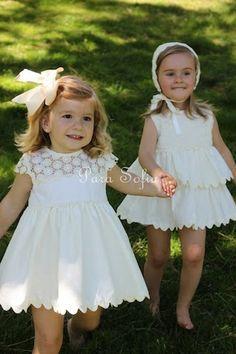 Moda infantil, vestido y jesusito de Para Sofia.