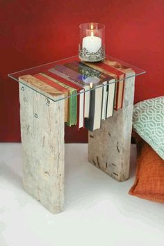 Repurposed Items, Repurposed Furniture, Painted Furniture, Wood Projects, Woodworking Projects, Book Furniture, Creative Decor, Book Crafts, Bohemian Decor