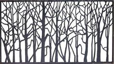 "68""W x 29""H Tree Cast Iron Railing Panel"