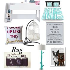 Dream Bedroom by madyd on Polyvore featuring polyvore interior interiors interior design home home decor interior decorating Mitchell Gold + Bob Williams South Shore Stray Dog Designs bedroom @Lildonald15