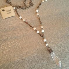 Beautiful sparkly long necklace #HandDesignedElementsOfStyle