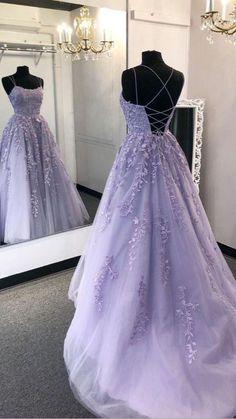 Light Purple Prom Dress, Prom Dress Black, Lavender Prom Dresses, Purple Lace, Chiffon Dresses, Tulle Prom Dress, Lavender Gown, Corset Prom Dresses, Lavender Dress Formal