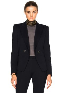 PIERRE BALMAIN Two Button Blazer. #pierrebalmain #cloth #