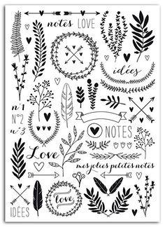 Cute Doodles, Flower Doodles, X 23, Doodle Art Letters, Bullet Journal Notebook, Doodle Inspiration, Motif Floral, Floral Patterns, Hand Illustration
