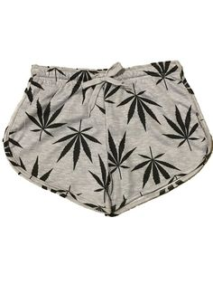 Women's Weed Leaf /Marijuana Print Short (small)