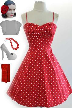 Just restocked at le bomb shop! Find it here: http://www.ebay.com/itm/50s-Style-RED-White-POLKA-DOTS-ROUCHED-Bust-Bombshell-PINUP-Sun-Dress-/140916453919?pt=US_CSA_WC_Dresses=item667828e1ad