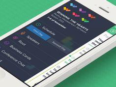 Menu screen for iOS app
