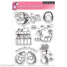 New Penny Black PIECE OF MY HEART Clear Stamps Critters Valentine's Love Hedgy
