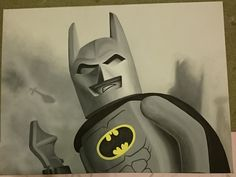 Lego Batman 2014 Acrylic on canvas 40x60cm jess@randomnous.com