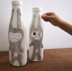 piggy banks made from plastic bottles - DIY