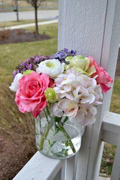 Luxury blue hydrangeas in glass by chicagosilkflorist acrylicwater mothers day flower arrangement hydrangeas by chicagosilkflorist mightylinksfo