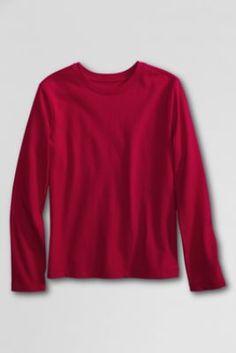 School Uniform Long Sleeve Feminine Fit Basic T-shirt from Lands' End School Uniform Girls, Pe Uniform, What Should I Wear, Shirts For Girls, Kids Outfits, Feminine, Clothes For Women, My Style, Long Sleeve