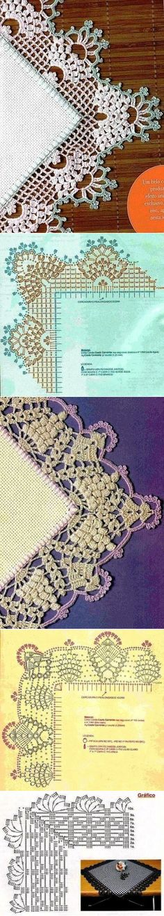 Crochet Stitches Patterns Lace Products Ideas For 2019 Crochet Boarders, Crochet Lace Edging, Crochet Motifs, Crochet Stitches Patterns, Crochet Diagram, Thread Crochet, Irish Crochet, Crochet Crafts, Crochet Doilies