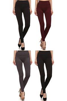 0eb6d8314e2240 2ND DATE Women's Tummy Tuck High Waisted Fleece Leggings at Amazon Women's  Clothing store: