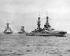 The battleship USS Pennsylvania (BB foreground, leading two Colorado-class battleships during maneuvers in the late Photo from the U. Naval History and Heritage Command archives. Naval History, Military History, Uss Maryland, Uss Pennsylvania, Uss Oklahoma, Navy Coast Guard, Us Battleships, Navy Air Force, Capital Ship