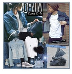"""""""Denim Jacket"""" by tracireuer ❤ liked on Polyvore featuring H&M, Paige Denim, Rebecca Taylor, Warehouse, Converse, Maison Michel, Ella Rabener, Armenta, Chico's and INC International Concepts"""