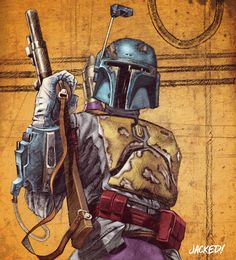 Star Wars Holiday Special tv show - Boba Fett Star Wars Episoden, Star Wars Comics, Star Wars Boba Fett, Chasseur De Primes, Jango Fett, The Force Is Strong, Bounty Hunter, Star Wars Characters, Illustrations