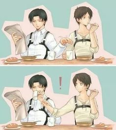 Ereri is love. Ereri is life. It will be canon. We're waiting Isayama.