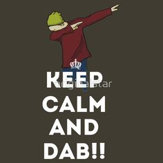 keep calm and dab dabber dance football touch down