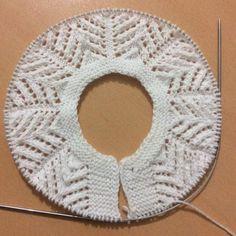 Детское вязание, от горловины, шаблоны