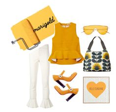 """""""MARIGOLD"""" by claudyabenedicta on Polyvore featuring Isabel Marant, DENY Designs, Marni, Christian Louboutin, Orla Kiely and polyvorecontest"""
