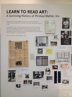 Learn to Read Art: A Surviving History of Printed Matter, Inc. - exhibit at Art Basel 2013