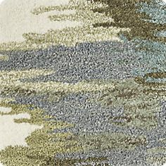 Birch Cyan Wool-Blend Abstract Rug   Crate and Barrel
