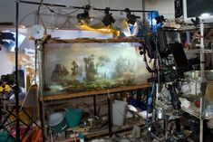 【アート画像】絵画を思わせる幻想的な写真 水槽の中に現れた現実と架空が融合した世界