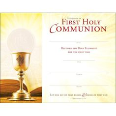 Open Bible, Types Of Planning, Eucharist, Scripture Verses, First Communion, Certificate, First Time, Place Card Holders, Faith