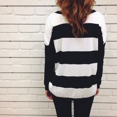 Bodie sweater #black #white #stripes #knit #comfy #cozy #fall #fashion #hunnistyle #womens #street #style