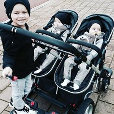 Could this pic get any cuter?! Big brother Liám and his little twin brothers Avery and Mason are all rocking our beanies... Taking twinning to the next level   Slouchy beanie sizes start from birth all the way to teens  www.ryderl.com by ryderl_style