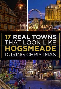 What is even more awesome is being able to say I can check a few of these of my list!!! 17 Actual Towns That Look Just Like Hogsmeade.