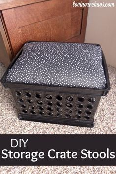 DIY Crate Seat - Perfect for home or the classroom!