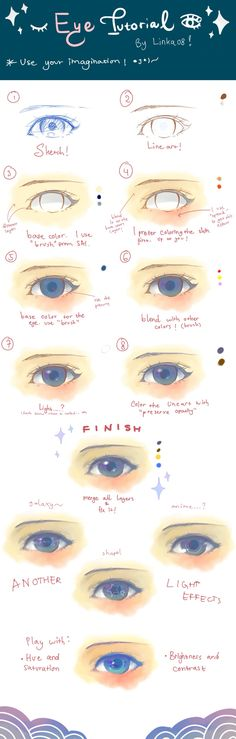 Semi Realistic Eye Tutorial
