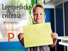 Logopedické cvičenia - výslovnosť P Special Needs, Periodic Table, Education, Logos, School, Cover, Montessori, Games, Periodic Table Chart