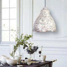 """The PaperMoon Factory, """"Eggshell Concrete Light"""" Concrete Light, Paper Moon, Eggshell, Decorative Bells, Candle Holders, Candles, Home Decor, Decoration Home, Room Decor"""