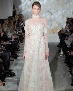 Mira Zwillinger Spring 2018 Wedding Dress Collection | Martha Stewart Weddings – Long-sleeve wedding dress