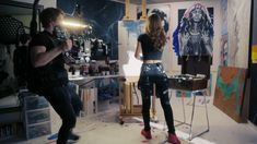 In their search for inspiration, Lexus reached out to me to share my journey of taking a leap of faith and following my dreams. Here's a little behind the scenes of the making of the video. The full collaboration will be postedoj instagram  @caseypaintings and on @Lexususa Wednesday. #lexus #artist #artstudio #painter