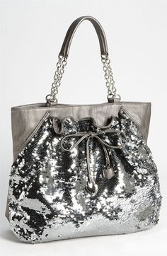 bebe 'Unique Chic' Sequin Tote available at Nordstrom Clutch Purse, Purse Wallet, Glitter Make Up, Nordstrom, Cute Purses, Cute Bags, Beautiful Bags, My Bags, Evening Bags