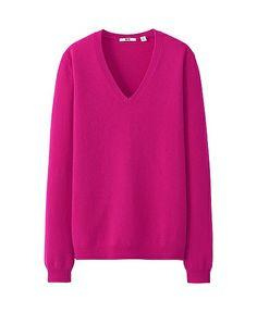 Uniqlo - Women Cashmere V Neck Sweater ($59.90).