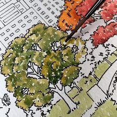 Watercolor Drawing, Watercolor Illustration, Watercolor Paintings, Watercolor Art Landscape, Landscape Sketch, Landscape Photos, Landscape Photography, Architecture Drawing Art, Watercolor Architecture
