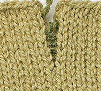Article about seaming knitted garments. Mattress stitch on stockinette fabric Mattress stitch on garter fabric Properly worked