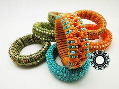 3D Soutache bracelets by Tender December Alina Tyro-Niezgoda