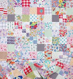 Vintage and Feedsack Fabric Quilt