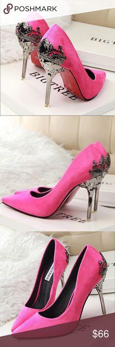 Pink velvet heels New sexy velvet red bottom heels Shoes Heels