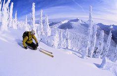 Whitewater Ski Resort, Nelson B. Canada - One of the best ski resorts I've ever ridden! Slalom Skiing, Snow Skiing, Ski And Snowboard, Snowboarding, Ski Canada, Toronto, Best Ski Resorts, Lake George, Winter Wonder