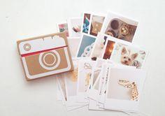printing instagram photos + a cute little box